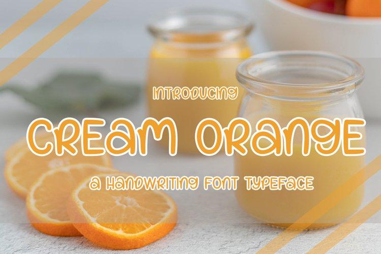 Cream orange example image 1