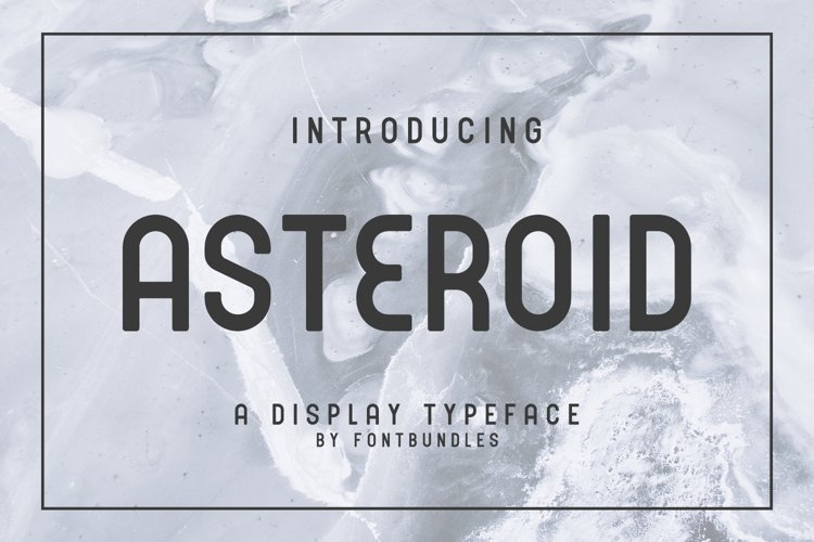 Web Font Asteroid example image 1