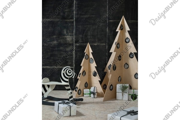 New Year's and Christmas decoration, zebra and gifts example image 1