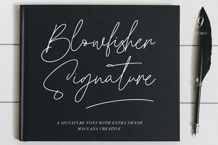 Blowfisher Signature Script Extra Swash example image 1
