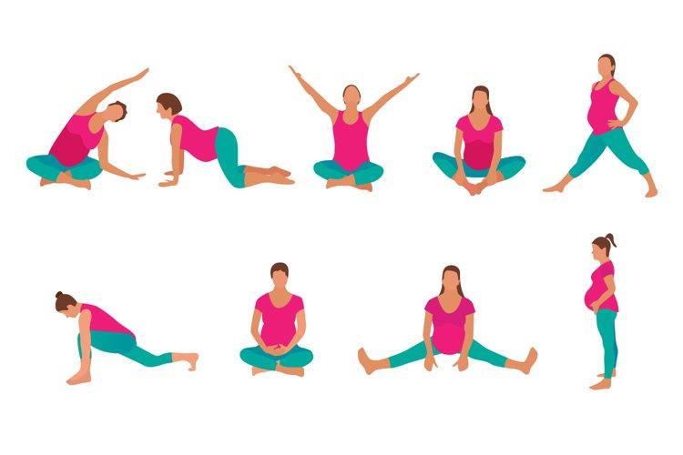 Pregnant Yoga Big set example image 1