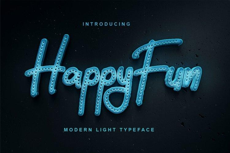 HappyFun | Modern Light Typeface example image 1