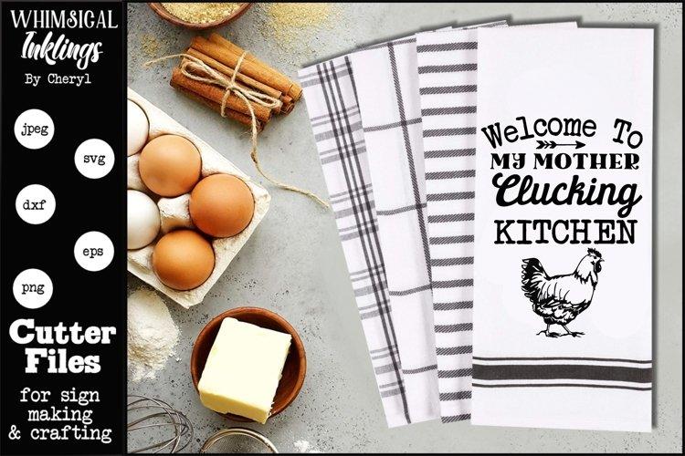 Clucking Kitchen-Chicken SVG example image 1