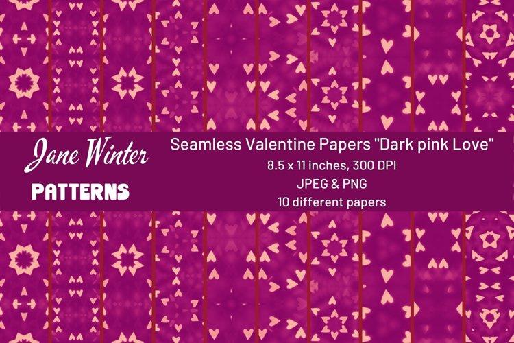 Seamless Valentine Papers Dark pink Love