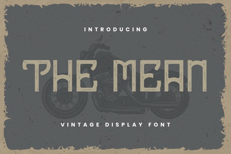 The Mean Font example image 1