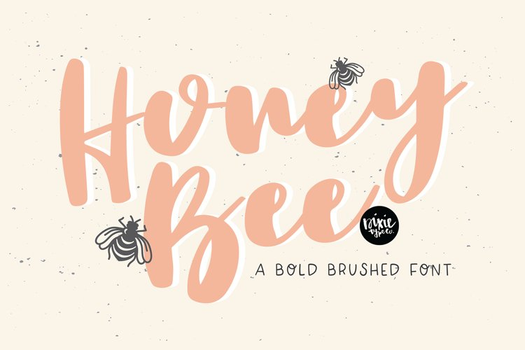 HONEY BEE a Bold Brushed Font example image 1