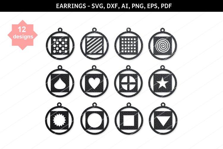 Heart earring,heart svg,Star svg,Cricut file,Earrings bundle example image 1