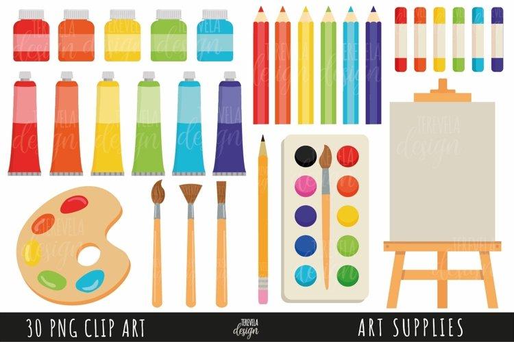 ART SUPPLIES clipart, SCHOOL