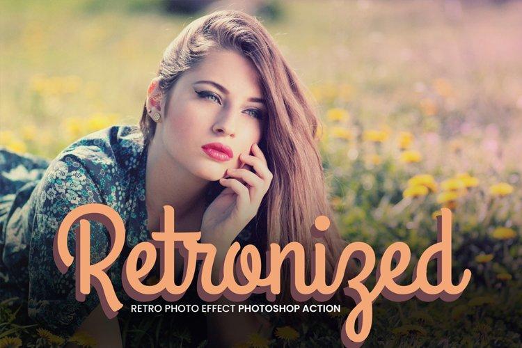 Retronized Retro Photo Effect Action example