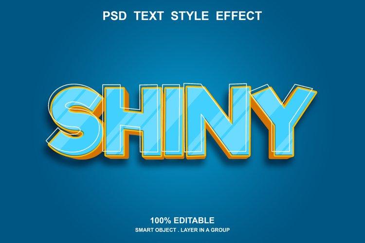 shiny text effect editable example image 1
