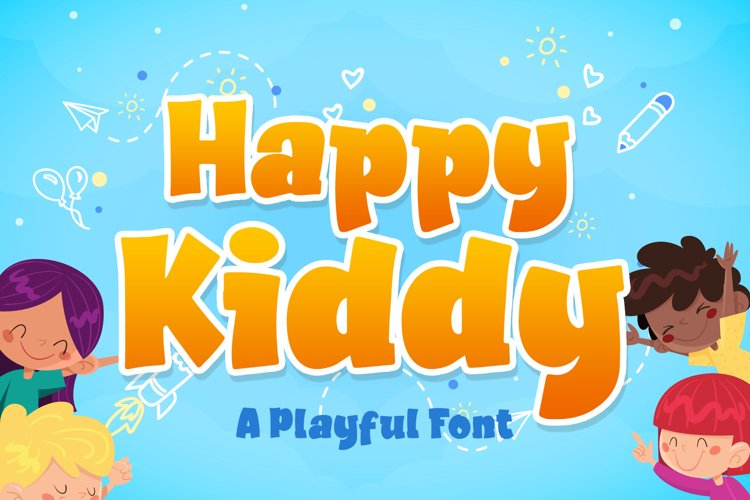 Happy Kiddy a Playful Font example image 1