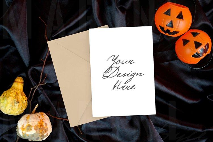 Card mockup 5x7, Invitation mockup, Halloween mockup 1084
