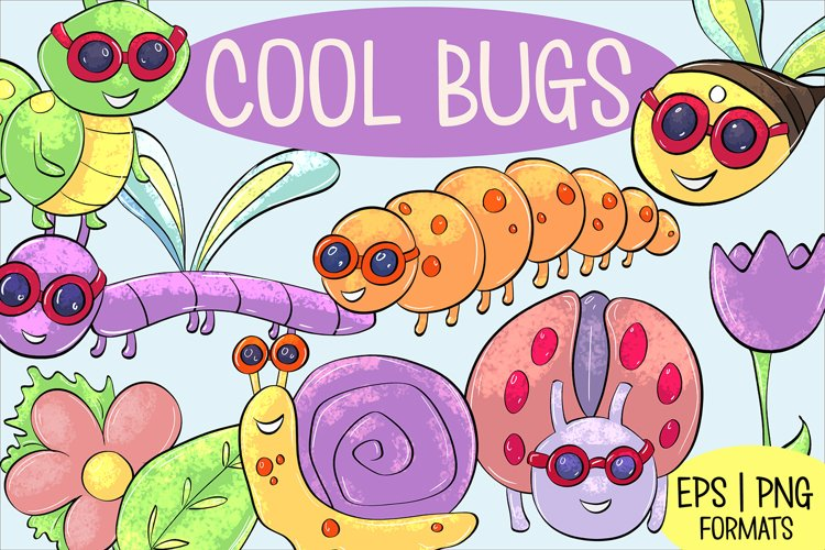 Cool Bugs Spring Illustrations