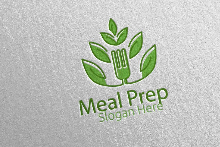 Tree Meal Prep Healthy Food Logo 21 example image 1