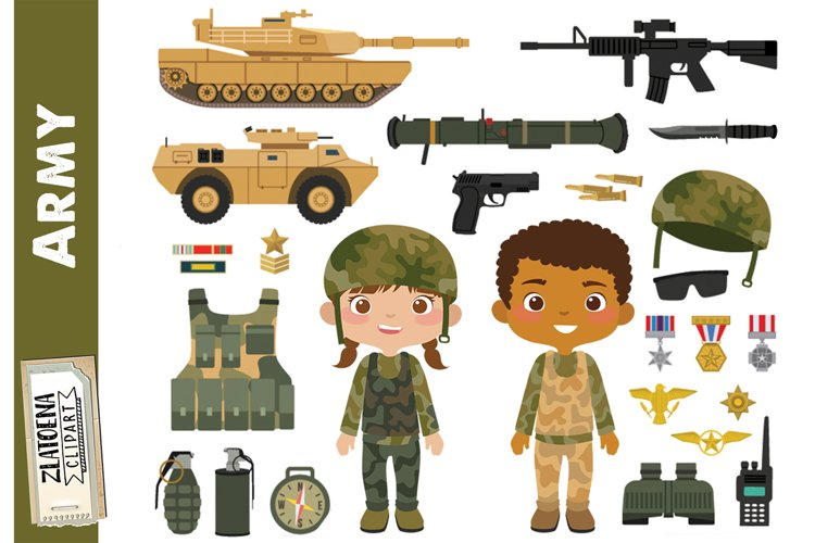 Army Clipart Military vector graphics Patriot Digital