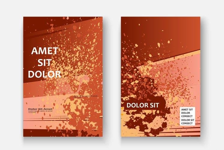 Creative cover frame design paint splatter explosion vector example image 1