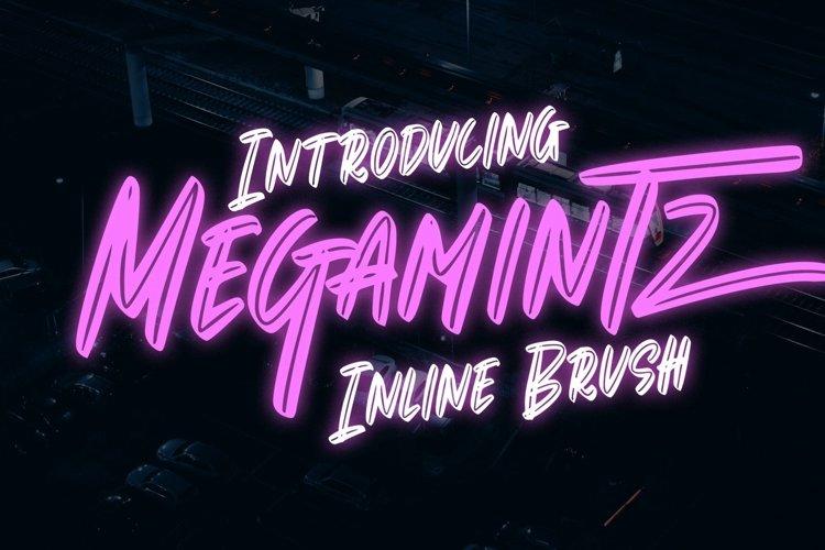 Web Font Megamintz - Inline Brush Font example image 1