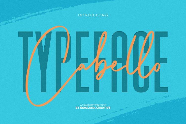 Cabello Handwritten Sans Font example image 1