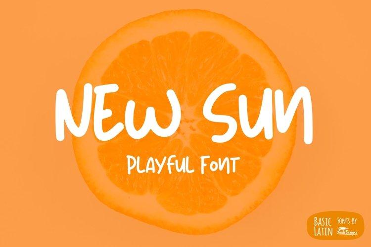 New Sun Playful Font example image 1