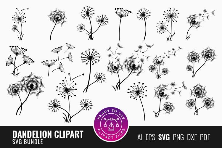 Dandelion Clipart SVG Bundle