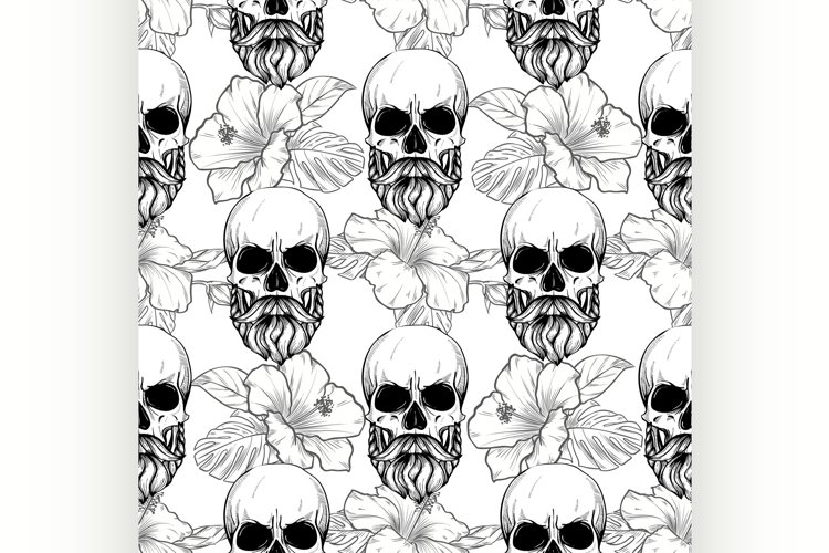 Seamless color pattern with skull example image 1