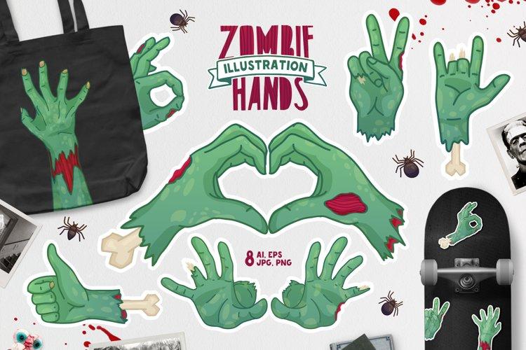 Zombie Hands Illustration