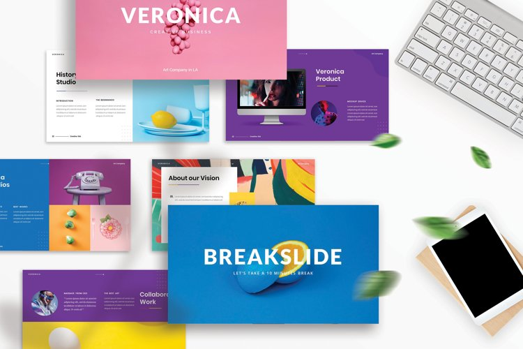 Veronica - Creative Business PowerPoint Template example image 1