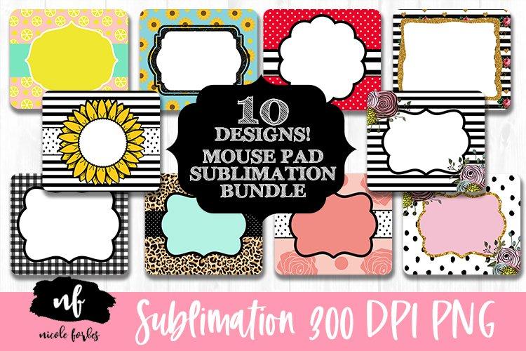 10 Designs Mouse Pad Monogram Sublimation Bundle