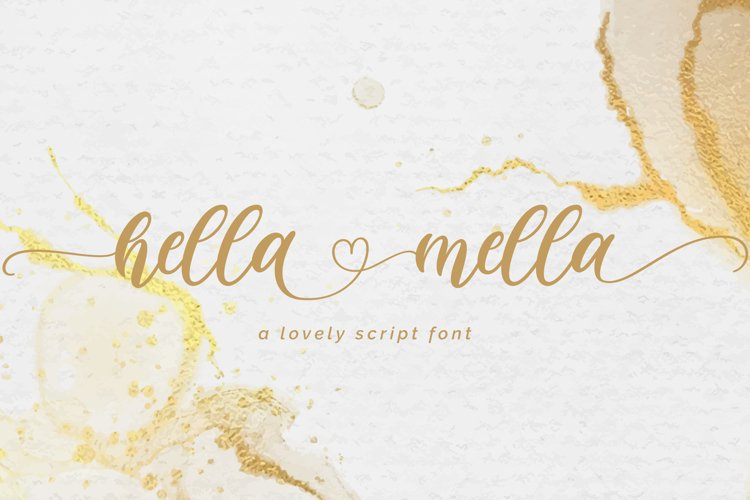 Hella mella - a Lovely Script Font example image 1