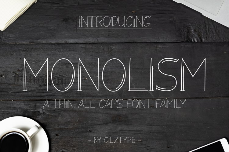 Monolism - A Thin All Caps Font Family example image 1