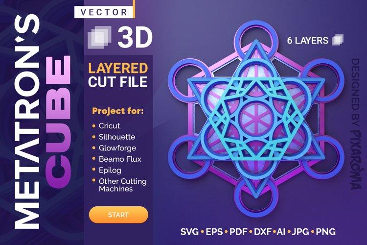 Metatrons Cube 3D Layered SVG Cut File