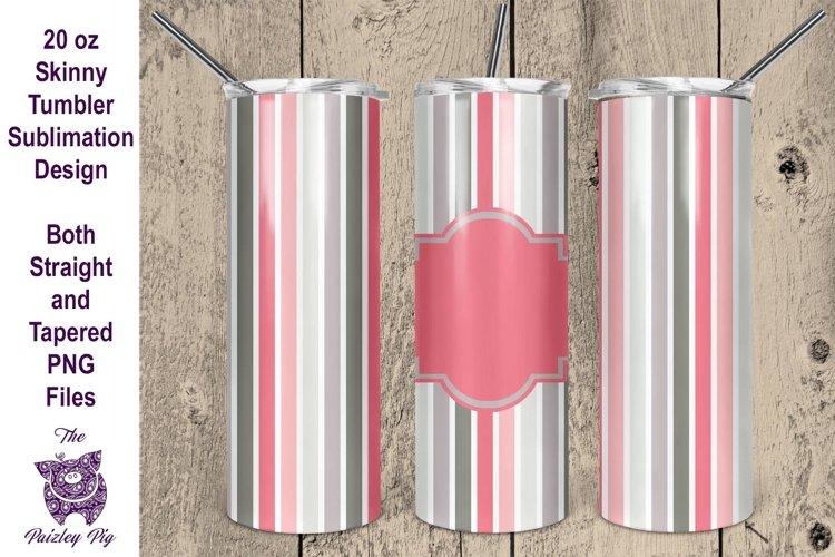 Valentine Stripes 20 oz skinny Tumbler Sublimation File
