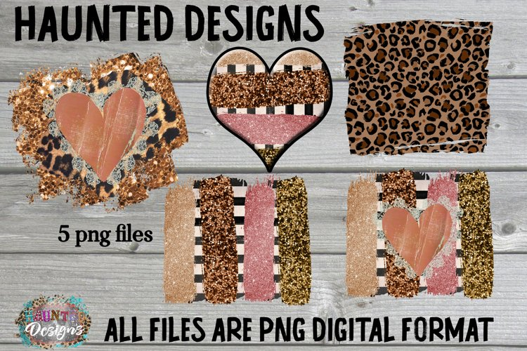 Cheetah Leopard Distressed Background Bundle Sublimation example image 1