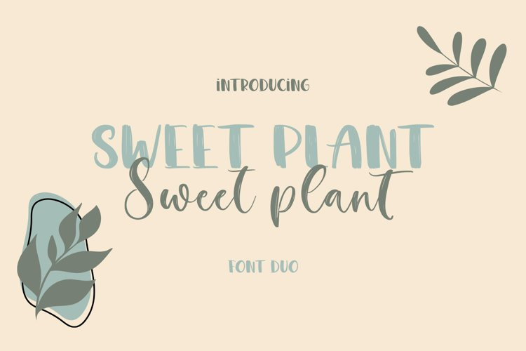Sweet Plant Font Duo example image 1