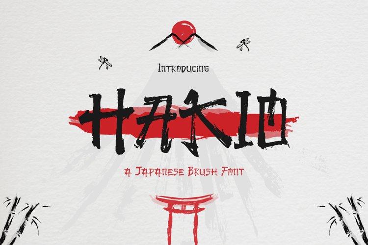 Hakio - Japanese Brush Font example image 1