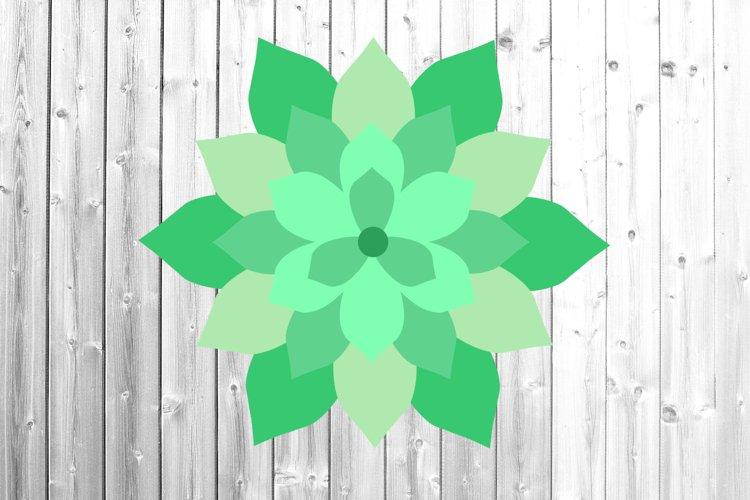 Succulent svg 3d succulent svg 6 layers Paper succulent example image 1