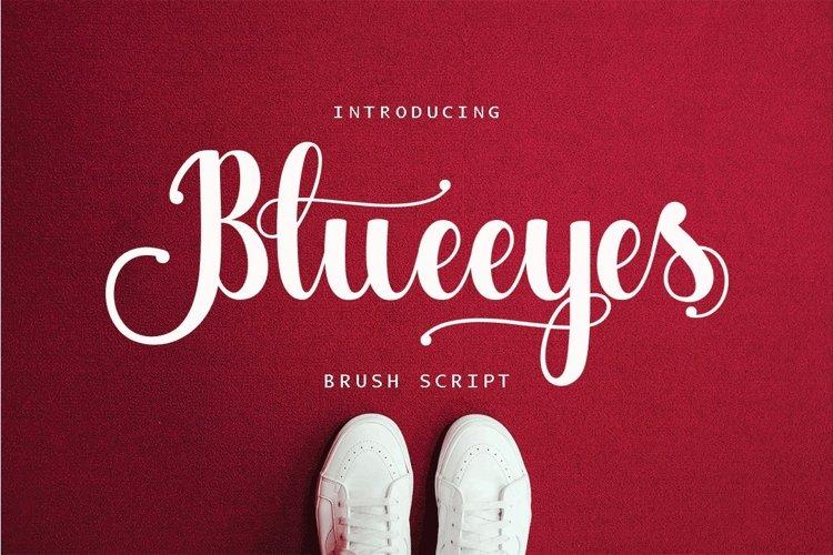 Web Font Blueeyes example image 1