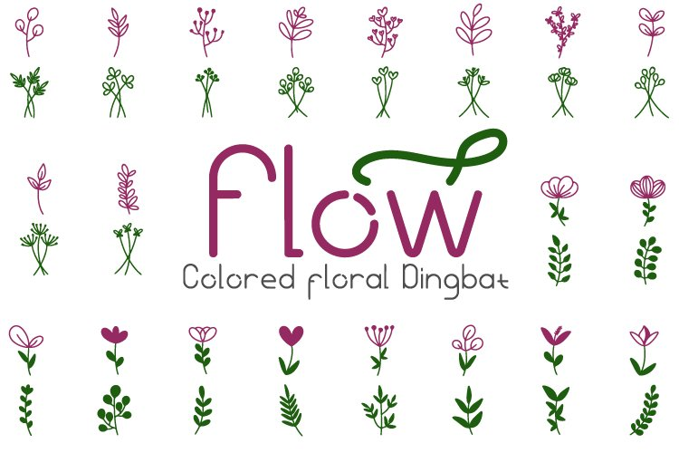 Flow colored font example image 1