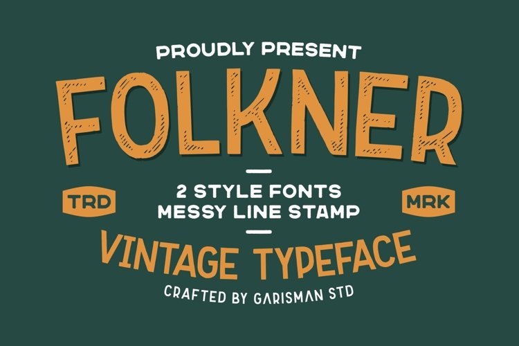 Folkner - Vintage Typeface example image 1