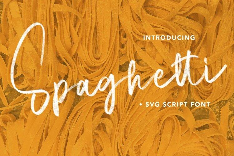 Web Font Spaghetti - SVG Script Font example image 1
