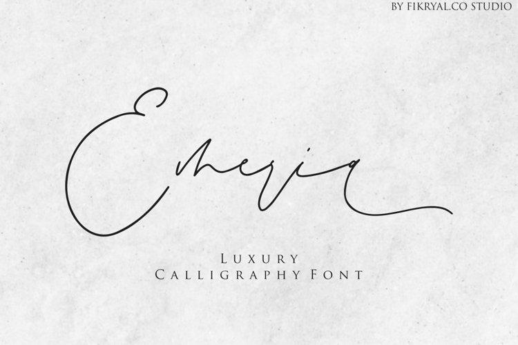 Emeria - Luxury Calligraphy example image 1