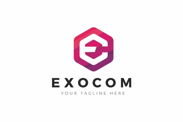 Exocom - E Letter Logo example image 1