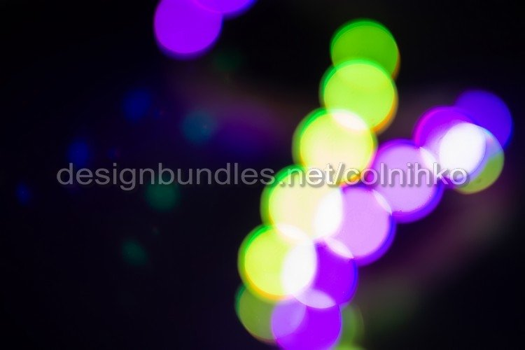 Duotone green and purple blurry neon lights example image 1