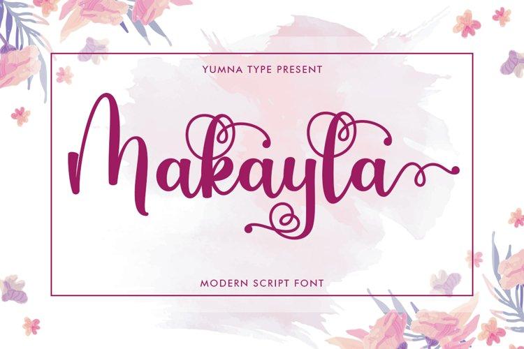 Makayla - Beautiful script Font example image 1