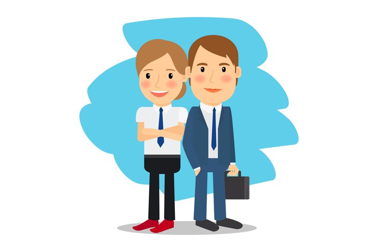 Business partners man and woman example image 1