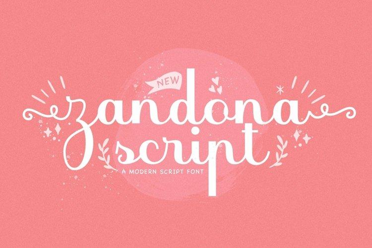 Web Font Zandona Script example image 1