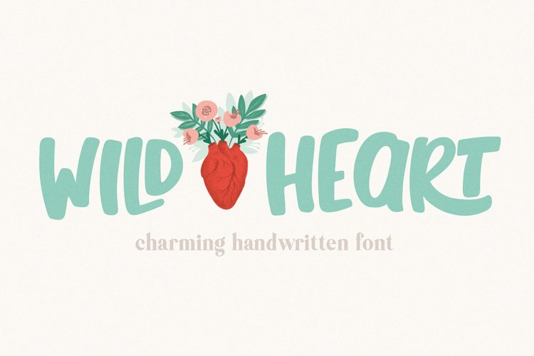 Wild Heart Charming Font for Crafters example image 1