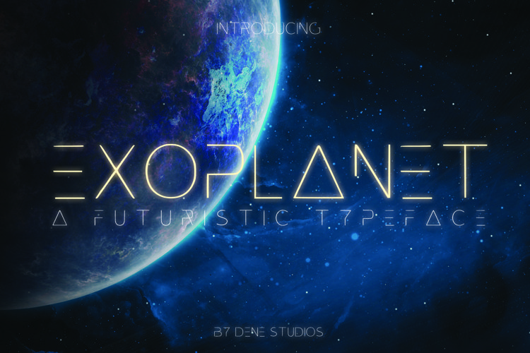 EXOPLANET - A Futuristic Typeface example image 1
