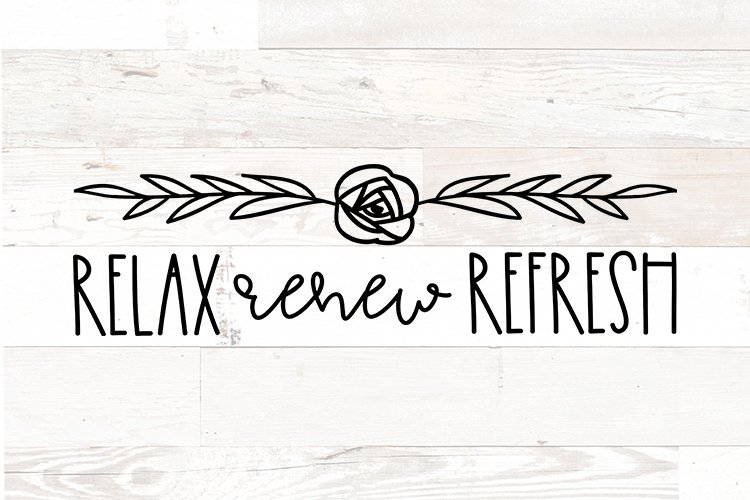 Bathroom Sign svg quote Relax Renew Refresh Farmhouse style