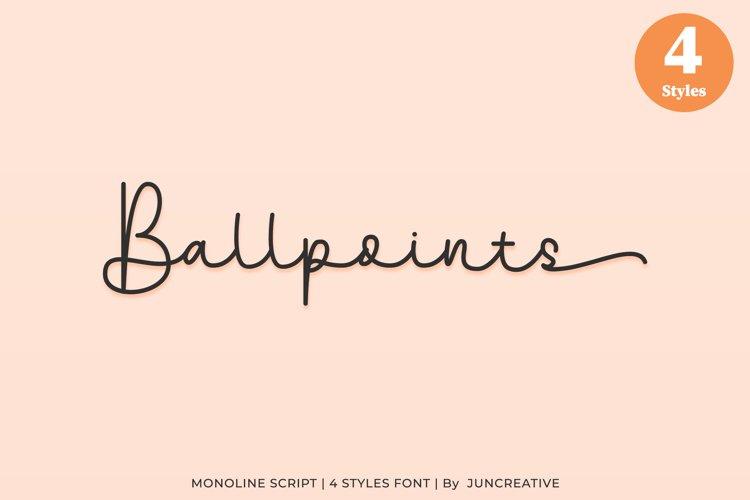 Ballpoints Monoline Script example image 1